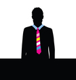 man with tie color vector image