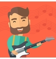 Musician is playing electrical guitar vector image vector image