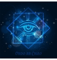 Mystical mason sign with eye vector image vector image