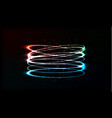 neon blurry circles at motion swirl trail effect vector image vector image