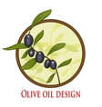 Olive oil branch in cicle vector image