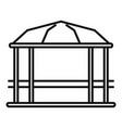 pavilion gazebo icon outline style vector image vector image
