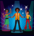 people dancing at disco vector image