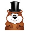 Postcard to Groundhog Day vector image vector image