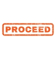 Proceed Rubber Stamp vector image vector image