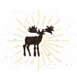 retro moose silhouette logo vector image