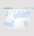 russia china japan and south korea maps vector image vector image