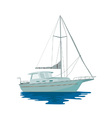 Sailboat Retro vector image vector image