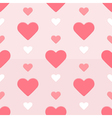 Seamless hearts pattern red and pink vector image vector image