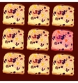 seamless pattern slices of bread vector image