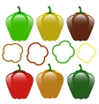 Set of Bell Peppers vector image vector image
