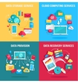 Set of concept flat designs for data services vector image