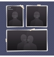 Set of empty photo frames vector image vector image