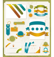 set retro ribbons and labels vector image vector image