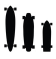 skateboard and longboard silhouette vector image