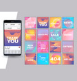 social network mockup set vector image