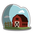 stable building farm icon vector image vector image