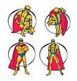 superhero set vector image vector image