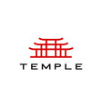 torii gate temple logo icon vector image vector image