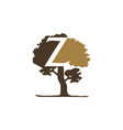 tree letter z vector image