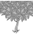 Tree with leaves vector image vector image