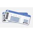 Two boarding passes vector image vector image