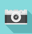 vintage camera icon flat style vector image