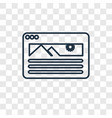 website concept linear icon isolated on vector image