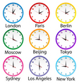 world clocks vector image vector image