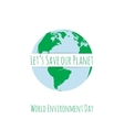 World Environment Day festive Concept Template vector image