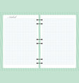 open squared notepad notebook with spiral vector image