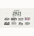 2021 happy new year logo design number vector image