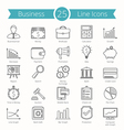25 Business Line Icons vector image