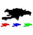 3d map of hispaniola vector image vector image