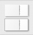 3d opened realistic white and black office vector image vector image