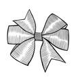 a bow ribbon gift vector image vector image
