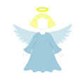 a christmas angel of icon in the color vector image vector image