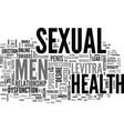 a positive approach towards men s sexual health vector image vector image