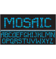 Alphabet - mosaic letters vector image vector image