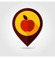 Apple flat mapping pin icon vector image vector image