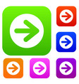 arrow in circle set collection vector image vector image