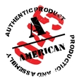 Authentic american product stamp vector image vector image