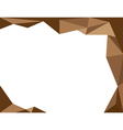background trangle brown vector image vector image