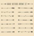 big set of hand drawn ethnic tribal arrows vector image vector image
