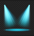 blue spotlight light effect vector image