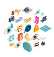 brand clothing icons set isometric style vector image vector image