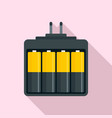 camera battery charger icon flat style vector image vector image