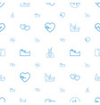 care icons pattern seamless white background vector image vector image