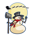 christmas winter cartoon snowman graphic ca vector image vector image