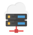 cloud server flat icon vector image